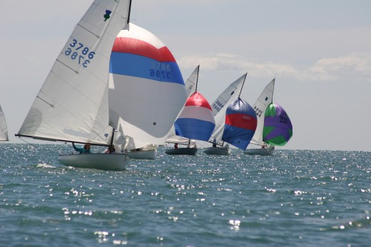 Thistle District Championship at Crescent Sail Yacht Club, Lake St. Clair 2006?