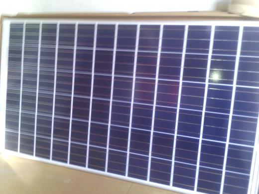 Solar photovoltaic panel of about 40 sq ft area