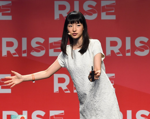Marie Kondo tours the world giving lectures about her life-changing philosophy.