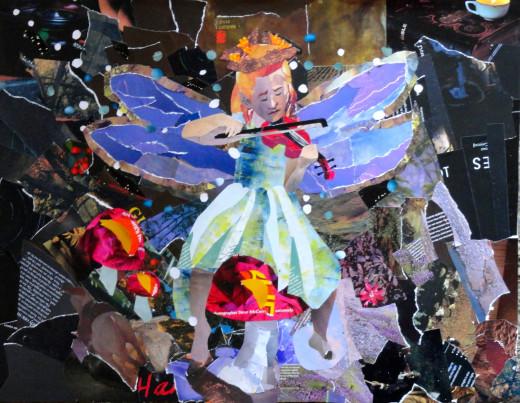 Fairy Fiddler Collage