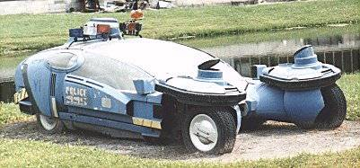 A prop flying police car used in Blade Runner.