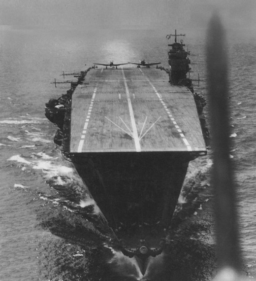 The Japanese Carrier Akagi, April 1942.
