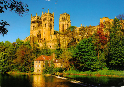 Durham Castle and Cathedral from across the River Wear