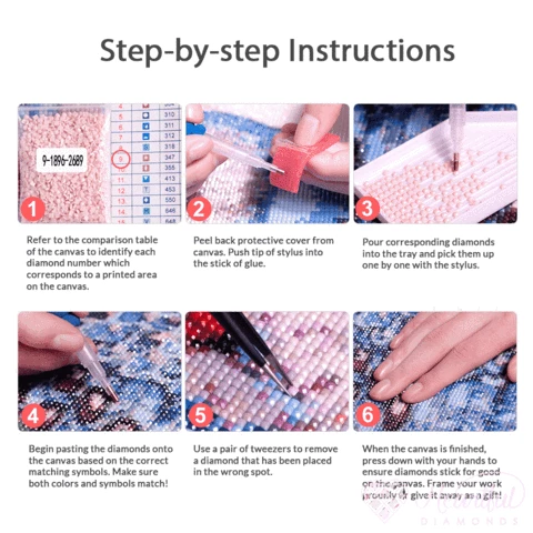 diamond painting step by step instructions