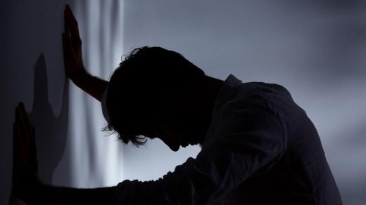 A depression stricken man