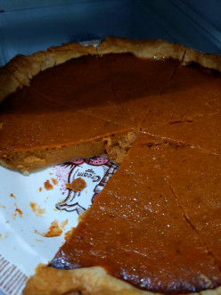 Pumpkin Pie with Spices and Homemade Crust