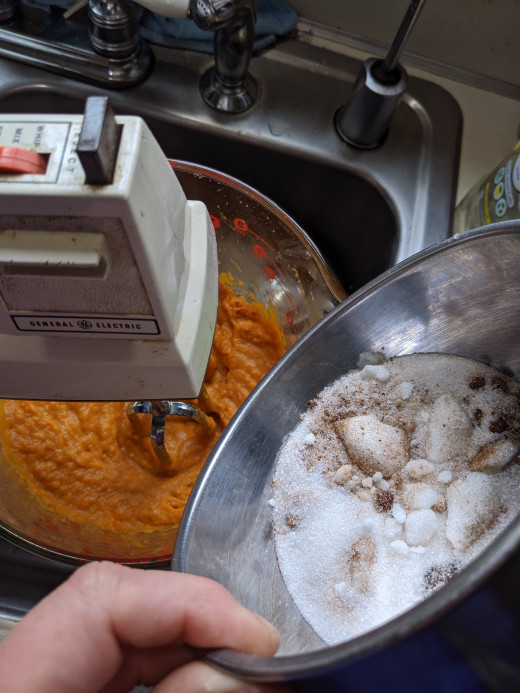 Time to add dry ingredients
