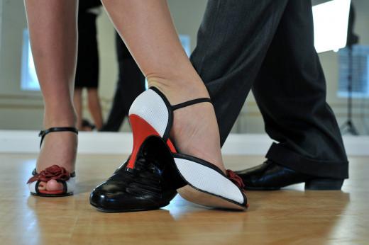 Feet dancing the tango