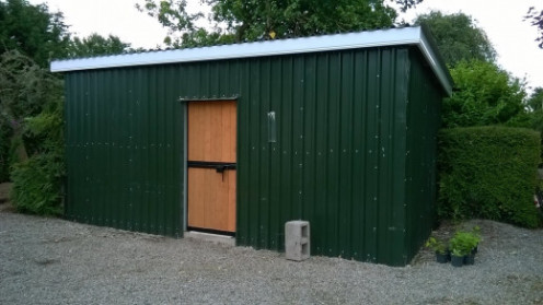Building a Steel and Wood Shed: A Construction Diary