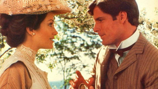 Elise (Jane Seymour) and Richard (Christopher Reeve) warm up to each other.