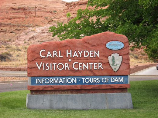 The National Park Visitor Center at Glen Canyon Dam
