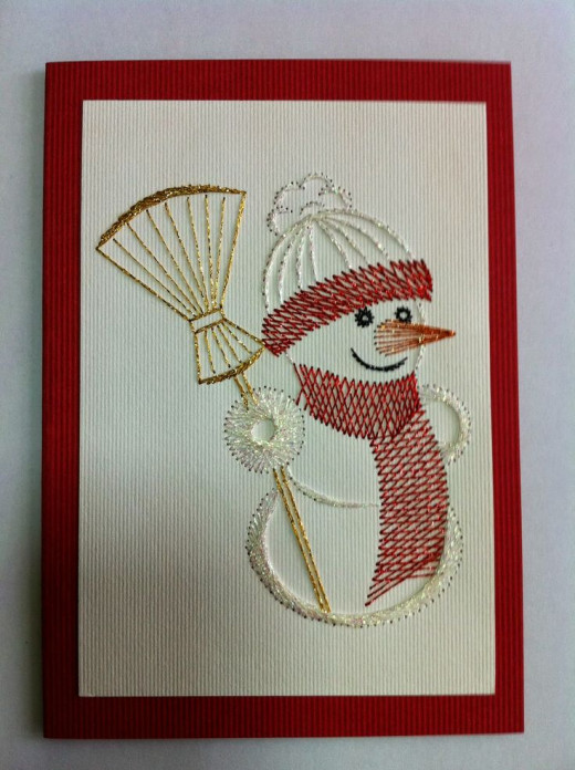 Paper embroidery is an art form in and of itself. You can use stitches to create unlimited art creations