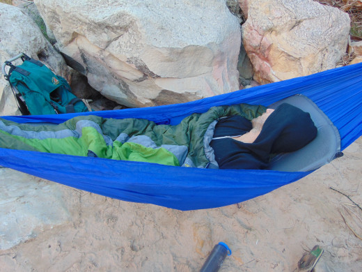 Just back country sleeping.
