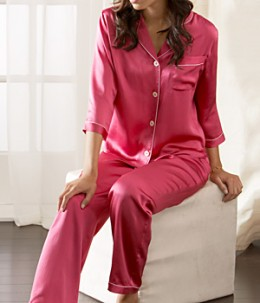 Silk pajamas are comfortable and stylish.