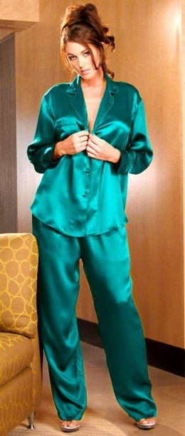 Who says silk pajamas aren't sexy?