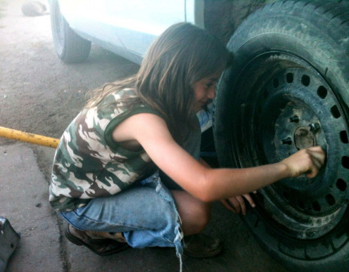 Learning vehicle maintenance, including tire changing and repair, is good for both a sense of preparedness and self-confidence.