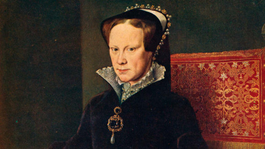 """Portrait of Queen Mary I, also known as """"Bloody Mary."""""""