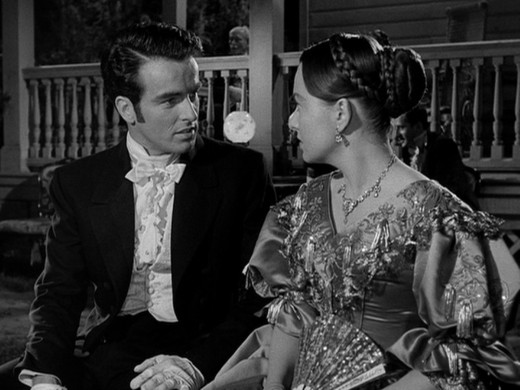 Clift and de Havilland shared a scene together in The Heiress.