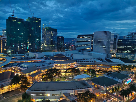 Night time with Ayala Center Cebu  in the foreground