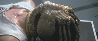 """The """"Facehugger"""", implants an embryo into an organism.  The organism kills the host at birth, then it a menace to anyone it comes across."""