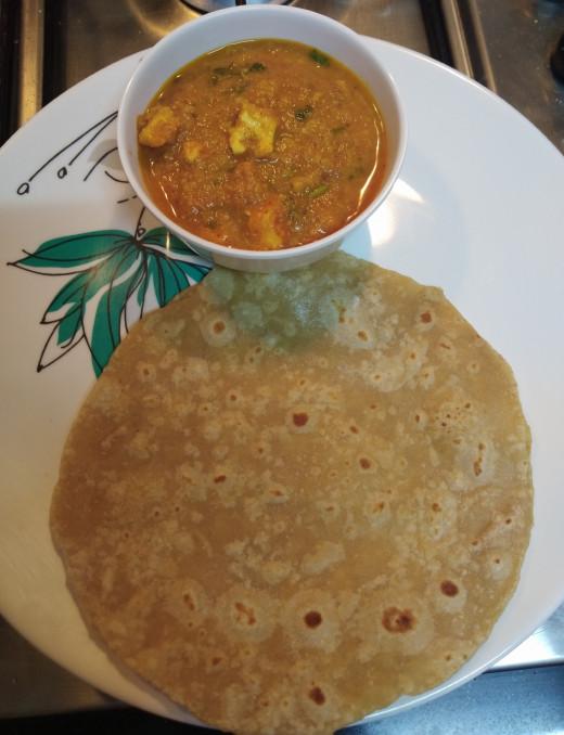 Serve hot with chapati, phulka, naan or paratha.