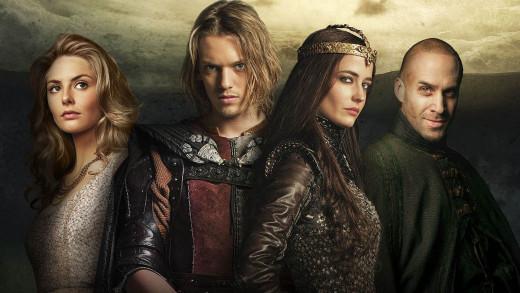 The cast of Camelot strike a pose.