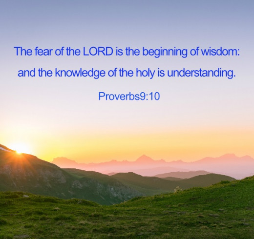 Godly fear, not just reverence but a fear of treading on holy ground, will lead us to Him and His wisdom.
