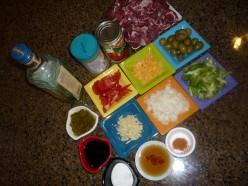 Ingredients for Beef Kaldereta.