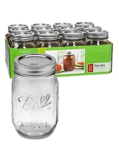 One Pint Mason Jars