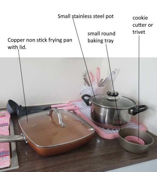 I have a small stainless steel pot and a non-stick (without Teflon) frying pan.