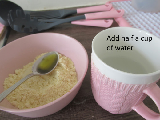 Add half a cup of water