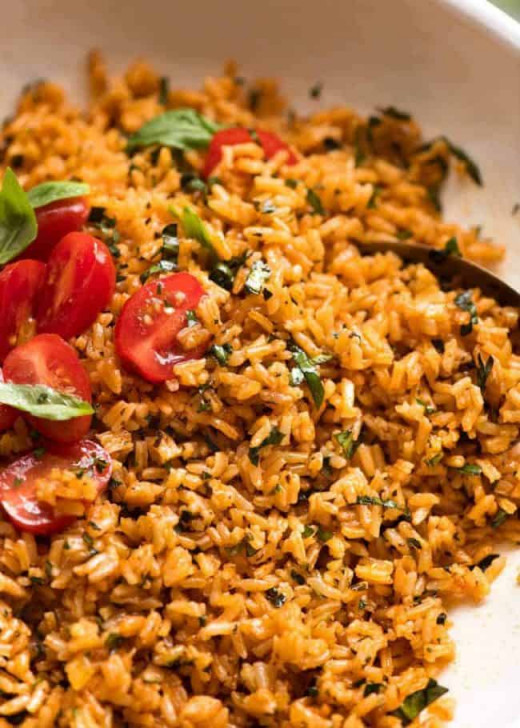Tomato-basil rice