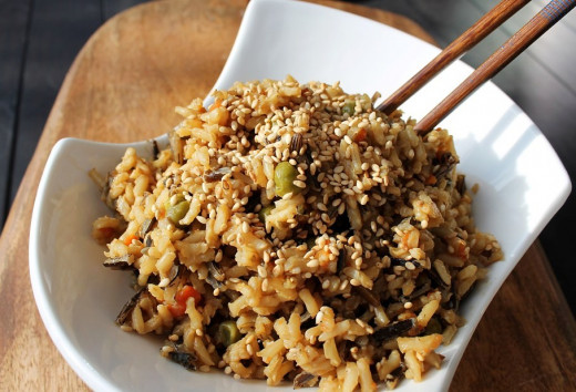 Low-fat unfried rice