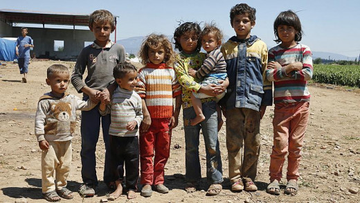 Some of the children who fled Syria and sought refuge in Turkey.