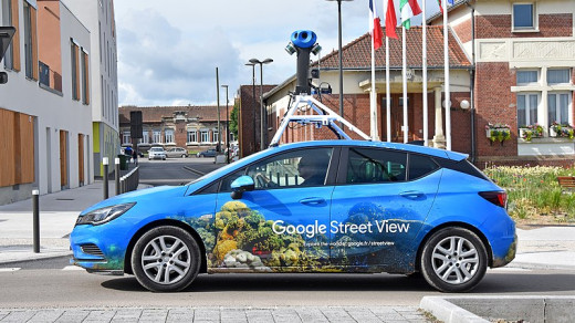 Google Street View camera car.
