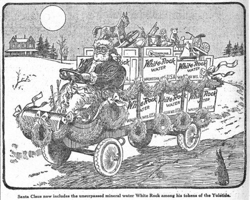 The original soft drink for Santa Claus was not Coke but White Rock! December 1915 Ad