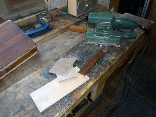 Quick sanding to round off any of the rough edges from the cut pieces of wood.