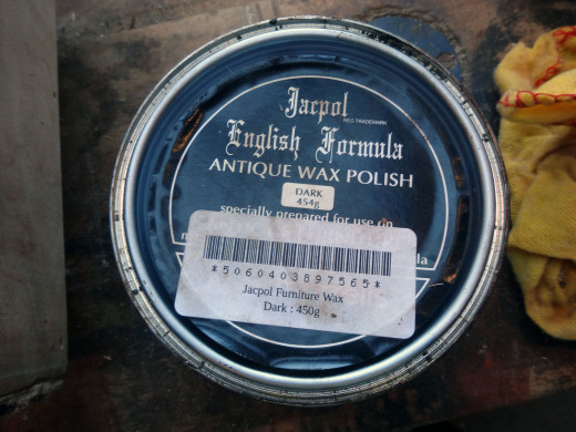 The Jacpol antique furniture beeswax polish (English Formula) which I always use these days; rather than silicone furniture polishes.