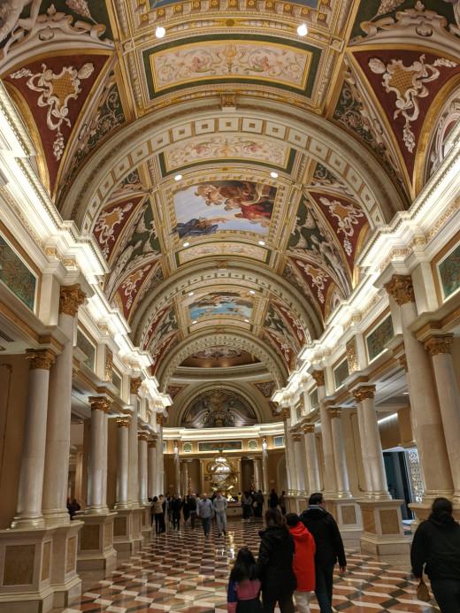 Main floor of the Venetian Resort located on the  Las Vegas Strip