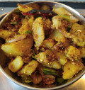 Potato Fry With Fresh Ground Spices