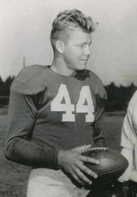 Kyle Rote in the Giants' training camp at Saranac Lake, New York, 1951.