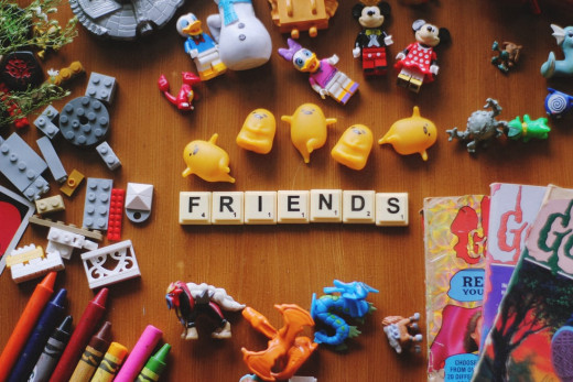 Assorted figures of toys and figures. Photo by Hannah Rodrigo on Unsplash