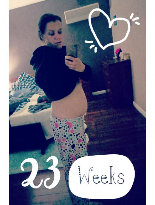 Me at 23 weeks