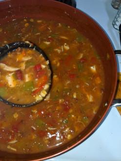 Making Shore Lunch Tortilla Soup Mix