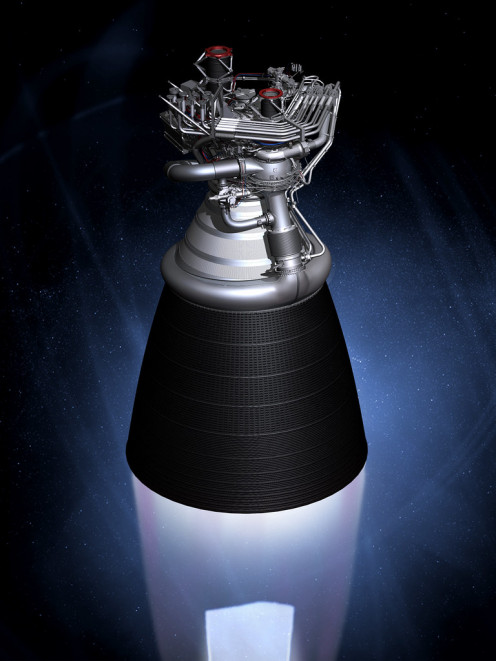 The J-2X is another engine collaboration between NASA and Aerojet Rocketdyne.