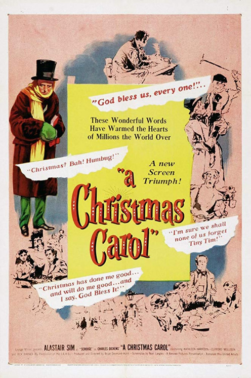 Scrooge (A Christmas Carol) directed by Brian Desmond Hurst and starring Alastair Sim.