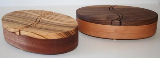 Exotic Hardwood Earring Boxes
