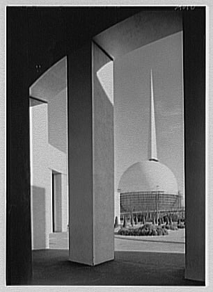 The Trylon and Perisphere.  The symbols of the New York 1939 World's Fair.