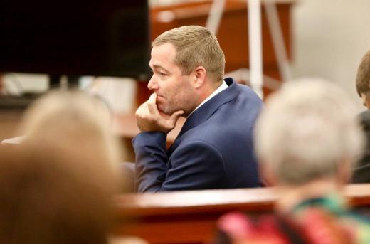 Sidney Moorer awaiting the jury's verdict on September 18, 2019.