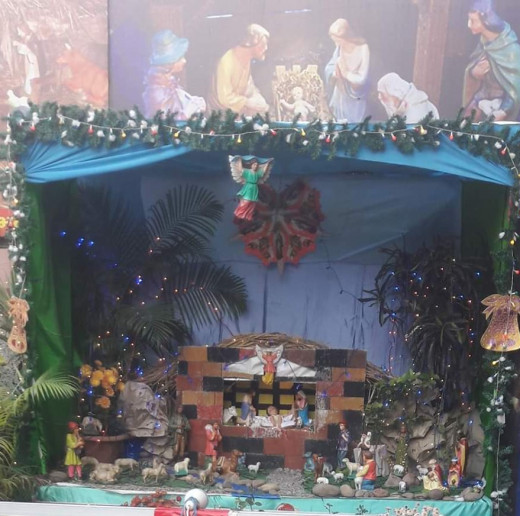 Nativity Scene at Holy Family Church, Lucknow 25th December 2018 :)